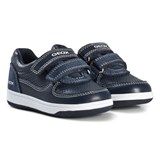 Geox Navy Leather Baby Flick Trainers