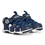 Geox Navy Agasim Velcro Closed Toe Sandals