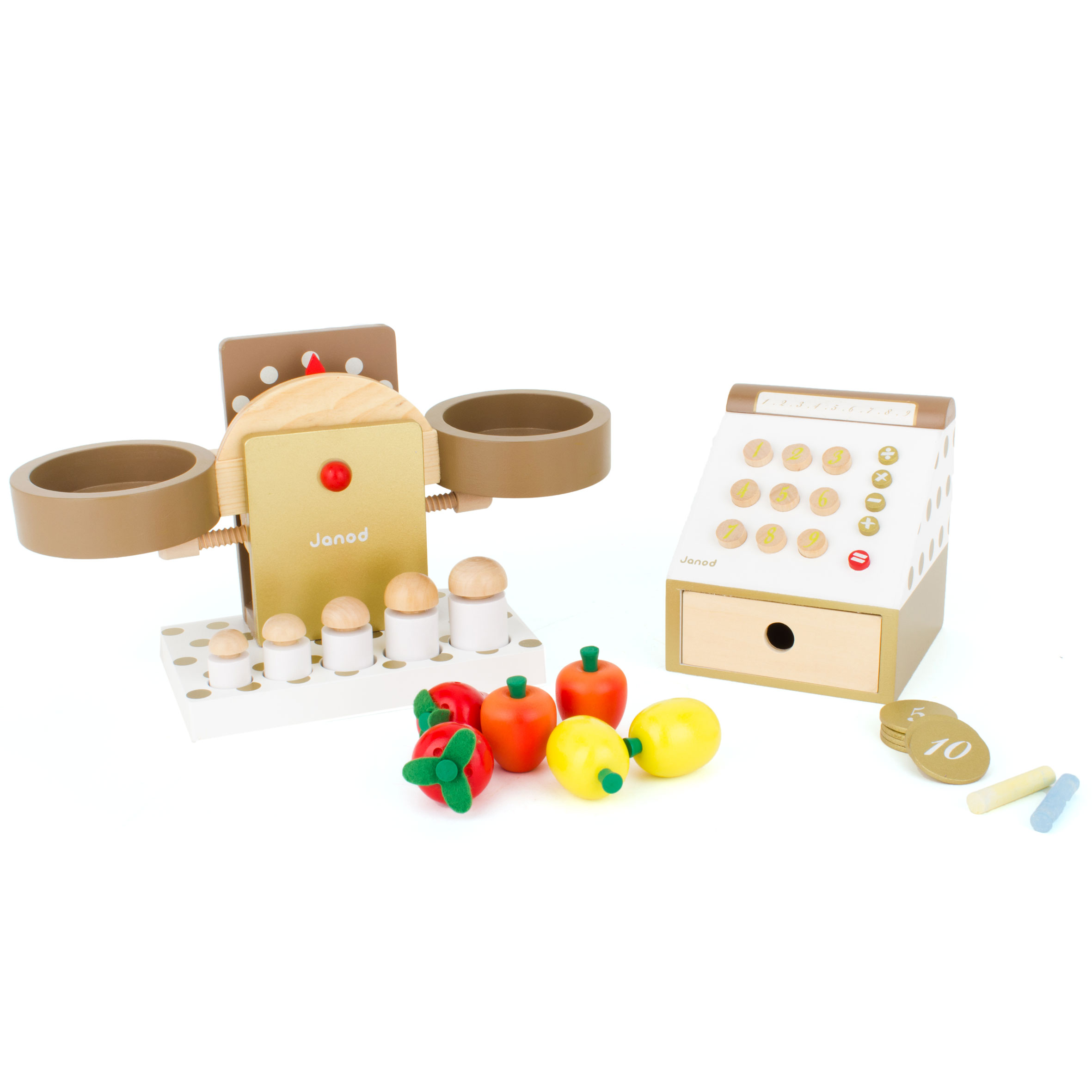 Janod Greengrocer set with scales and till | AlexandAlexa