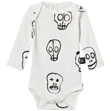 NUNUNU White Skull Mask Long Sleeved Onesie