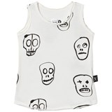 NUNUNU White Skull Mask Tank Top