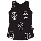 NUNUNU Black Skull Mask Tank Top