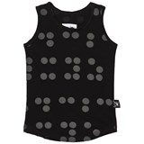 NUNUNU Black Braille Tank Top