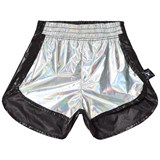 NUNUNU Silver and Black Gym Shorts