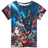 Little Eleven Paris Multi Justice League All Over Print T-Shirt