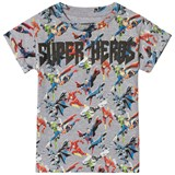 Little Eleven Paris Grey Super Hero All Over Print T-Shirt