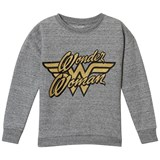 Little Eleven Paris Grey Wonder Woman Gold Embroidered Sweater