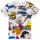 Little Eleven Paris Multi Peanuts Print T-Shirt