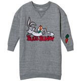 Little Eleven Paris Grey Bugs Bunny Embroidered Sweater Dress
