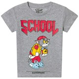 Little Eleven Paris Grey Tom School Print T-Shirt