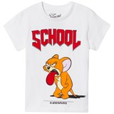 Little Eleven Paris White Jerry School Print T-Shirt