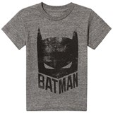Little Eleven Paris Grey Marl Batman Mask Print T-Shirt