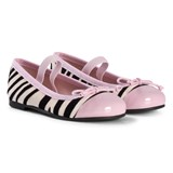 Pretty Ballerinas Zebra Velvet Hannah Pumps with Patent Toe Cap