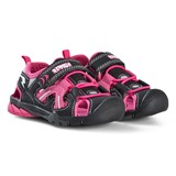 Primigi Pink And Black Velcro Strap Water Shoes