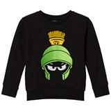 Little Eleven Paris Black Looney Tunes Marvin the Martian Embroidered Sweater