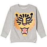 Popupshop Grey Tiger Loose Sweater