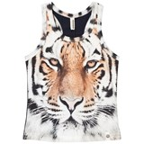 Popupshop Orange Basic Tiger Tank Top