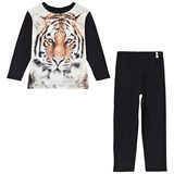 Popupshop Black and Tiger Print Night Set