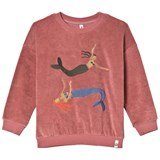 Popupshop Red Frotte Mermaid Sweater