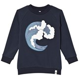 Popupshop Navy Basic Wave Sweater