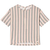 Popupshop Peach and Grey Stripe Summer T-Shirt