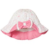 Dr Kid Off White Bird and Floral Print Infants Sun Hat