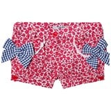 Dr Kid Red Floral Shorts with Gingham Bow Detail