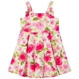 Dr Kid Pink Floral Print Dress with Bow Detail