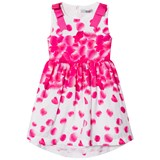 Dr Kid Pink Petal Print Dress with Cut Out Back