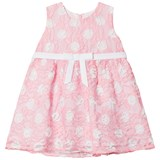 Dr Kid Pink and White Spotted Lace Infants Dress