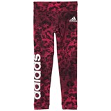 adidas Performance Pink Printed Girls Branded Leggings