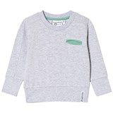 Geggamoja Light Grey Melange College Sweater