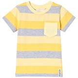 Geggamoja Yellow and Grey Stripe T-Shirt