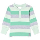 Geggamoja Green Striped Grandpa Sweater