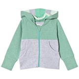 Geggamoja Green and Grey Melange College Hoodie