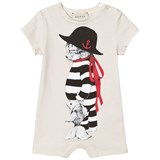 Gucci White Sailor Cat Print Romper
