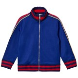 Gucci Royal Blue Tech Jersey Anchor Branded Track Jacket