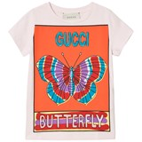 Gucci White Butterfly Branded T-Shirt