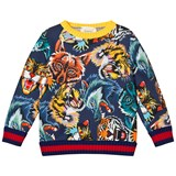 Gucci Blue Tiger, Lion And Wolf Print Sweatshirt