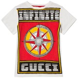 Gucci White Gucci Graphic Print T-Shirt