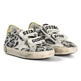 Golden Goose Black Leopard Velcro Super Star Old School Trainers
