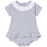 Hust&Claire Blue and White Stripe Dress Body
