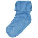 MP Dusty Blue Ribbed Ankle Socks