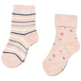 MP Pack of 2 Floral and Stripe Bodil Socks
