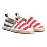 Tommy Hilfiger Navy and Red Branded Espadrilles