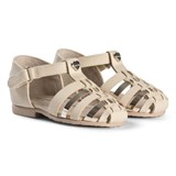 Mayoral Gold Woven Close Toe Metallic Sandals