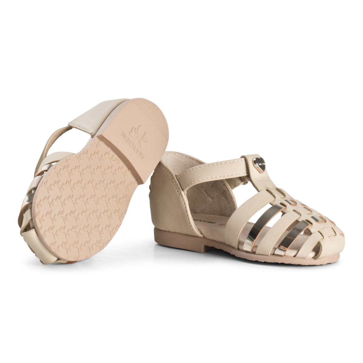 0ddc10064eb Mayoral Gold Woven Close Toe Metallic Sandals