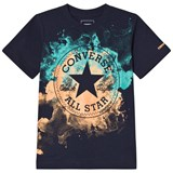 Converse Navy Water Colour Chuck Patch T-Shirt