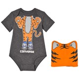 Converse Grey and Orange Tiger Creature Creeper and Hat Set