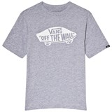 Vans Grey Heather and White Athletic T-Shirt